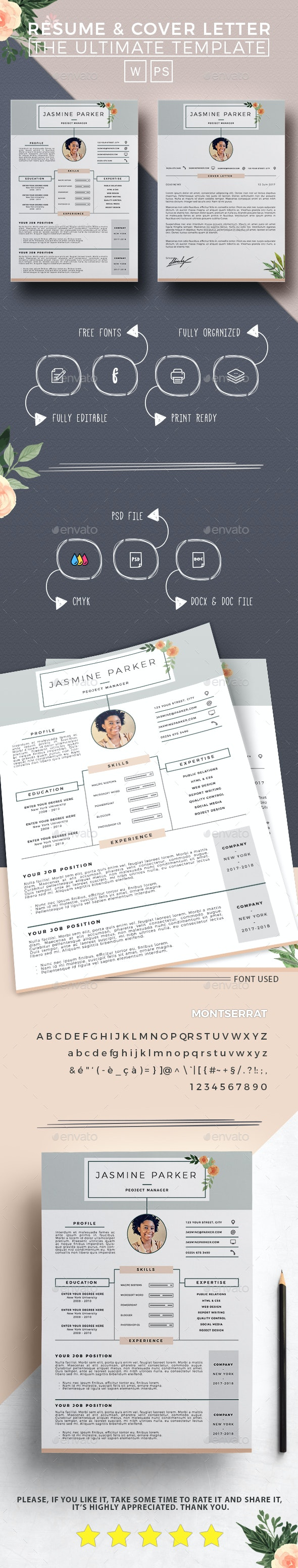 Resume - Jasmine - - Resumes Stationery