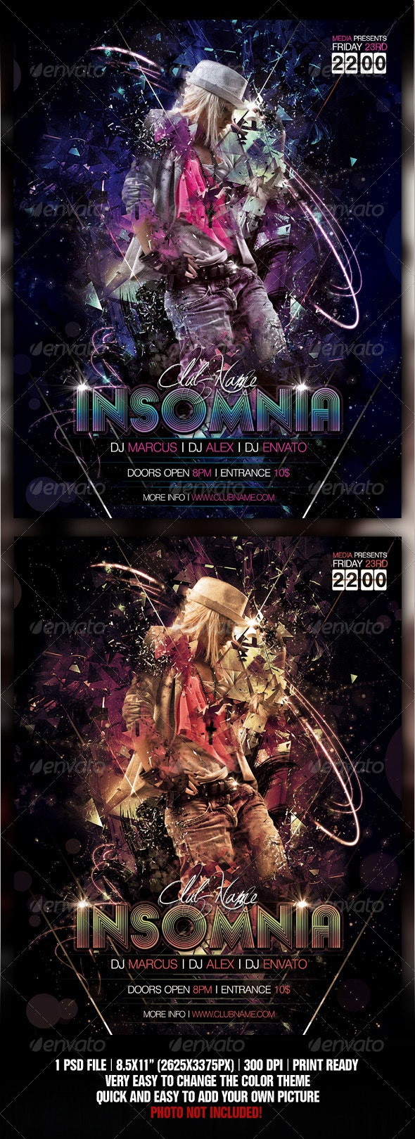 Insomnia Night Club Party / Concert Flyer / Poster - Clubs & Parties Events