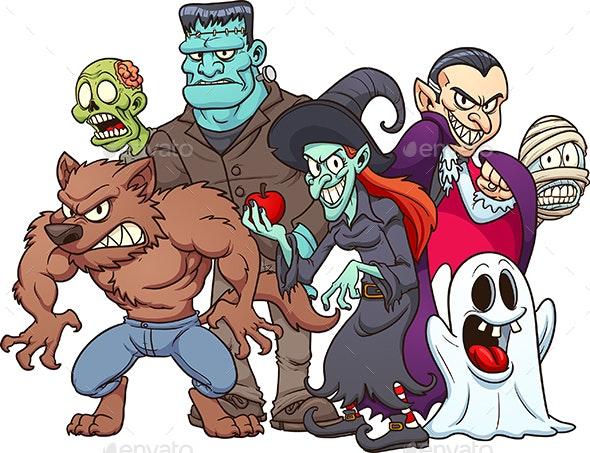 Halloween Monsters - Halloween Seasons/Holidays