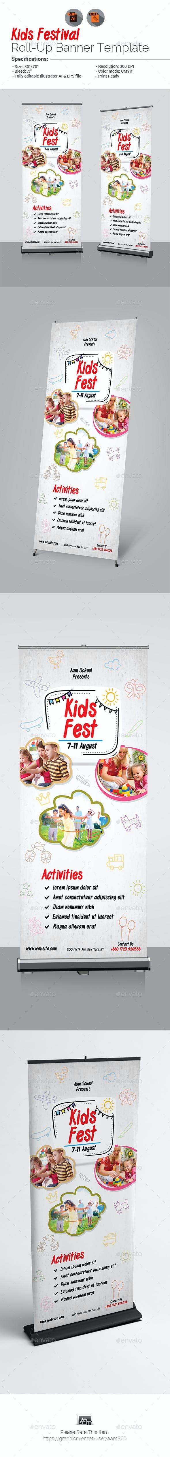 Kids Fest Roll-Up Banner