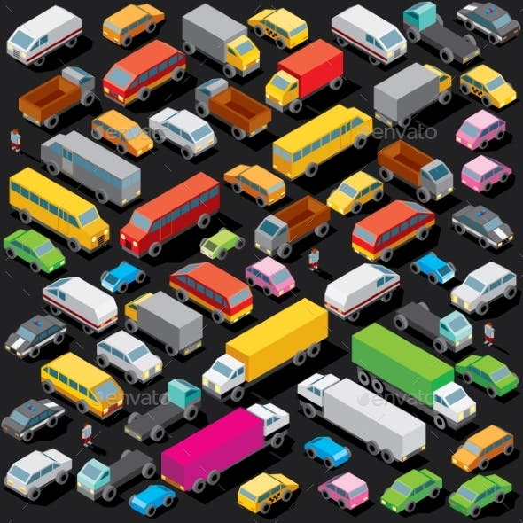 Isometric Cars Parking