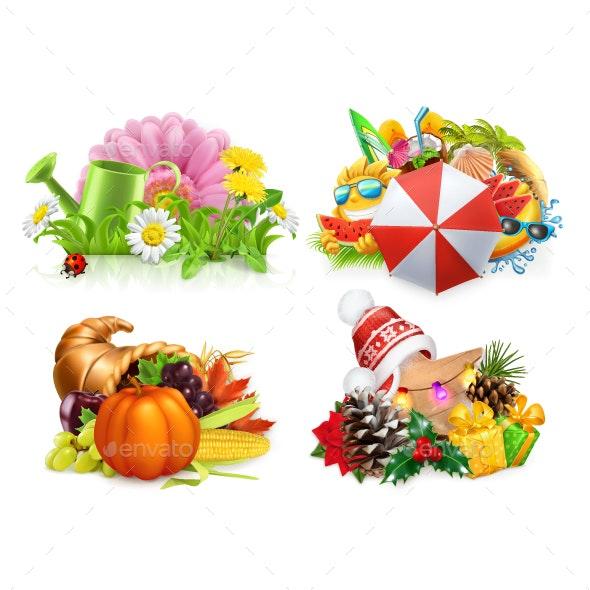Four Seasons Concept - Miscellaneous Vectors