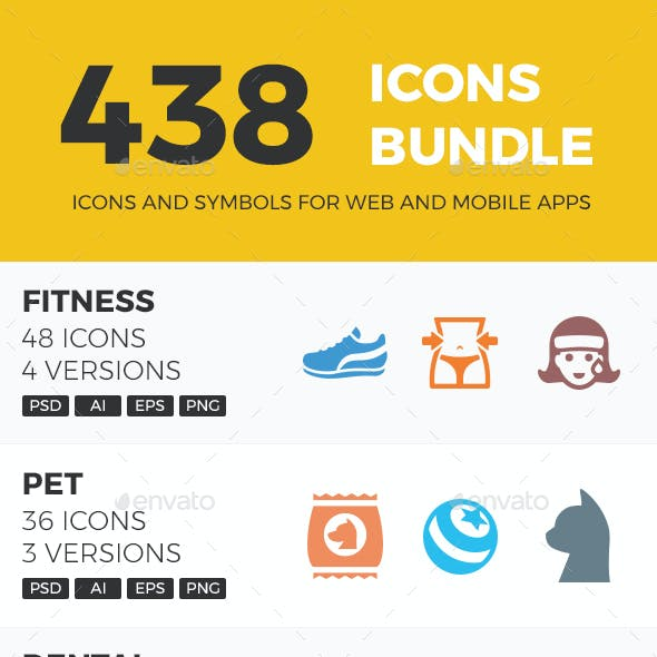 438 Icons Bundle
