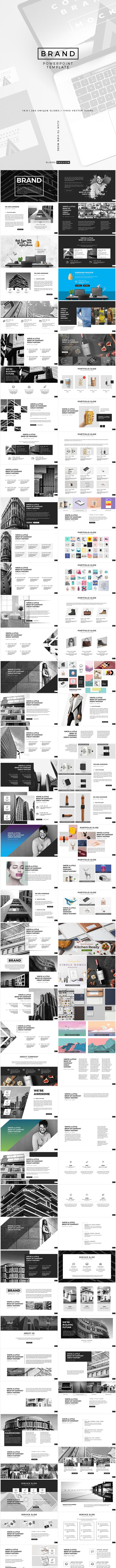 Brand PowerPoint Presentation Template - Creative PowerPoint Templates