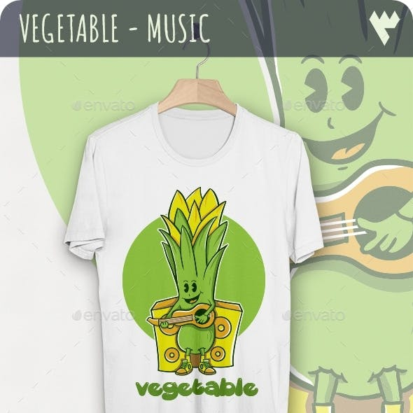 Vegetable - Music T-Shirt Design