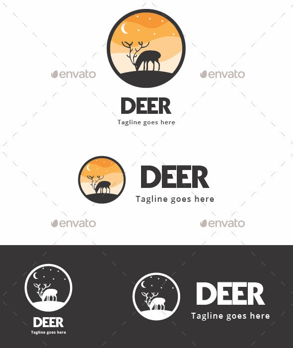 Deer Silhouette - Animals Logo Templates