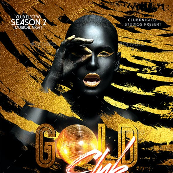 Gold Club Party Poster / Flyer
