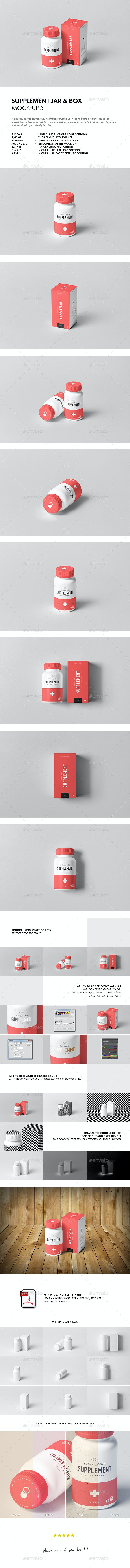 Supplement Jar & Box Mock-Up 5 - Miscellaneous Packaging