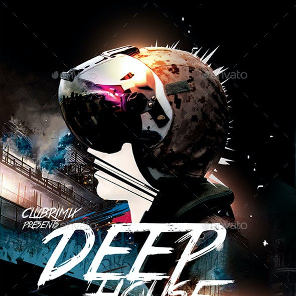 Deep House Party Poster / Flyer