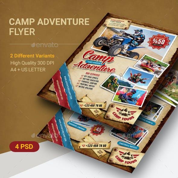 Camping Adventure Flyer
