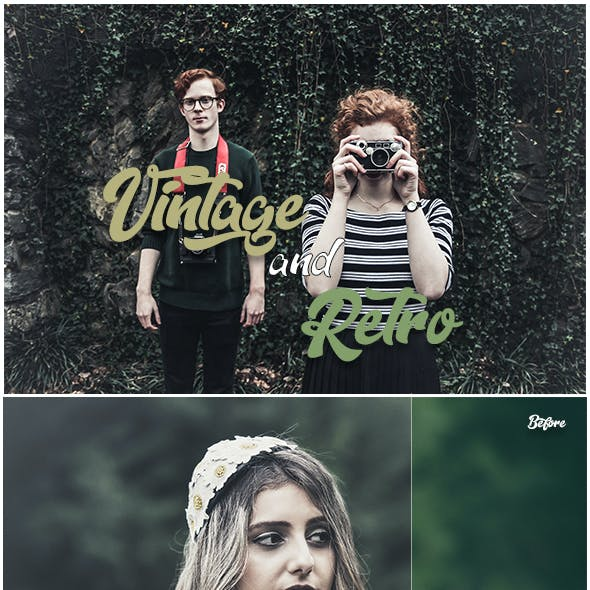 30 Vintage & Retro Lightroom Presets