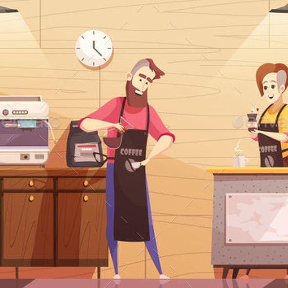 Coffee House Vector Illustration