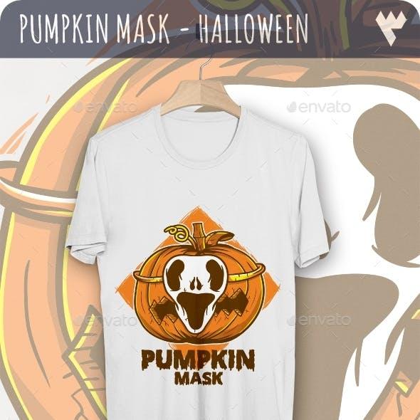 Pumpkin Mask - Halloween T-Shirt Design