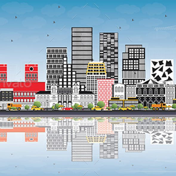 Oslo Norway Skyline with Gray Buildings