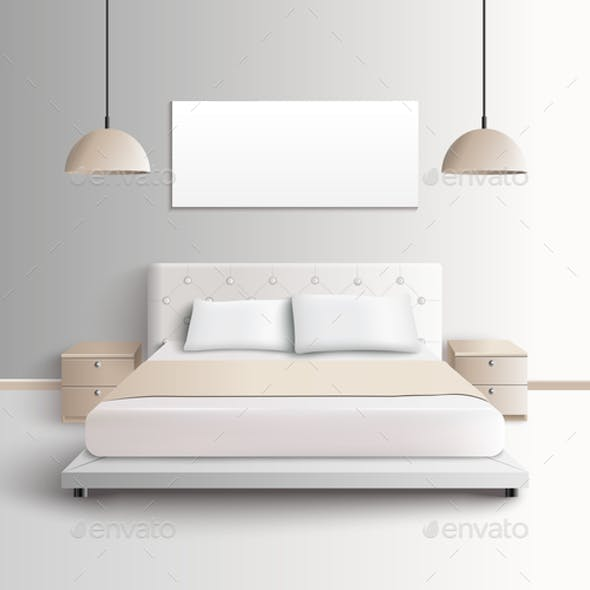 Modern Bedroom Interior Composition