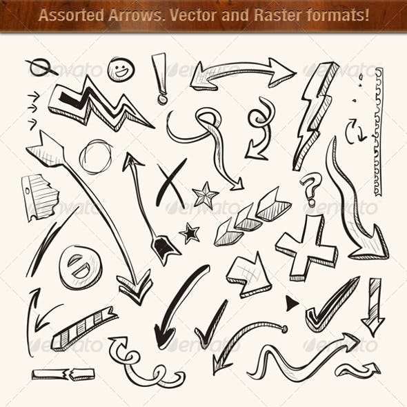 Arrows, Vector and Raster