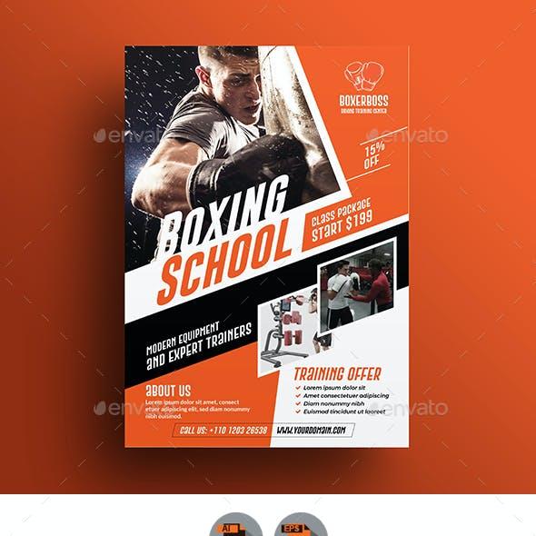 Boxing School Flyer