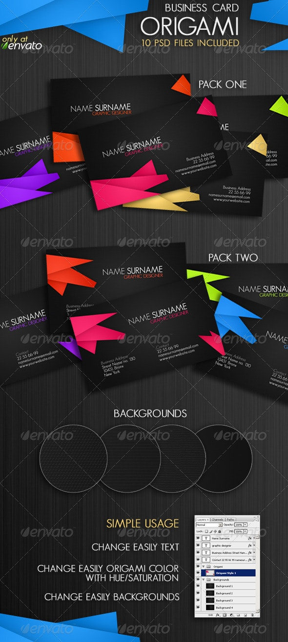 Origami Business Card - Corporate Business Cards