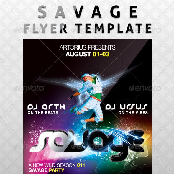 Savage Flyer Template