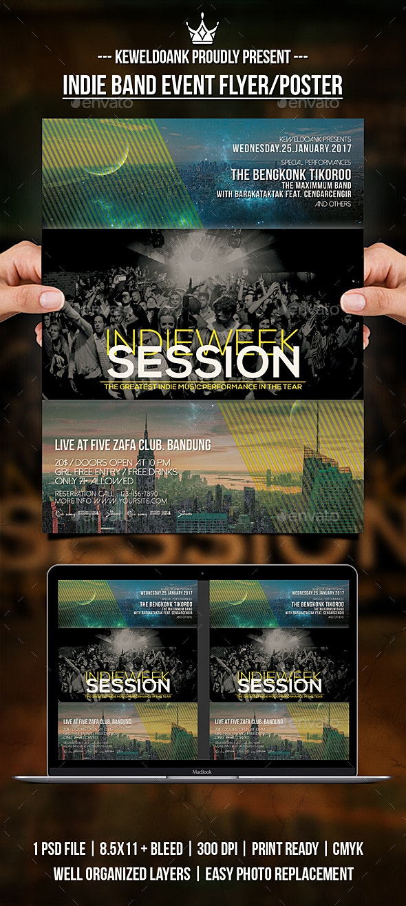 Indie Band Event Flyer / Poster - Events Flyers