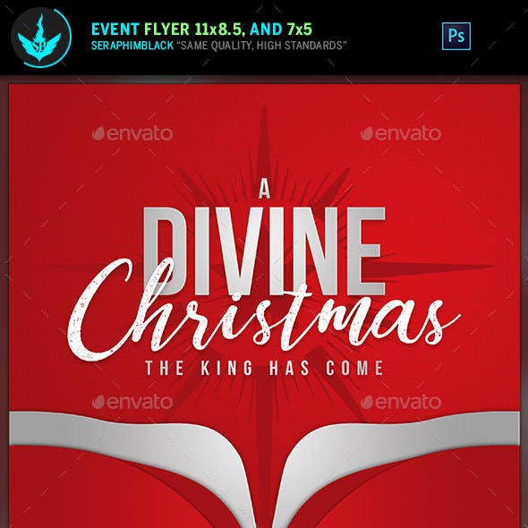 A Divine Christmas Flyer Template