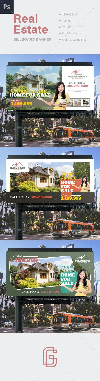 Real Estate Billboard Banner - Signage Print Templates