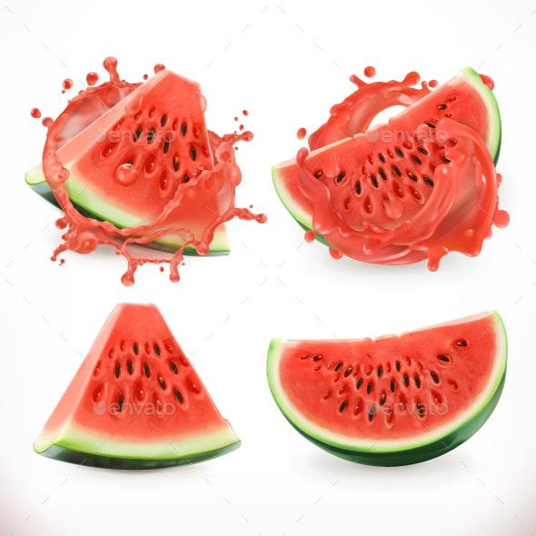 Watermelon Juice - Vectors