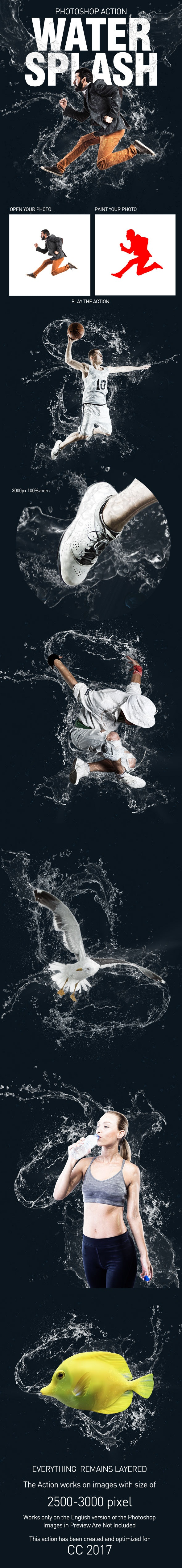 Water Splash Action - Photo Effects Actions