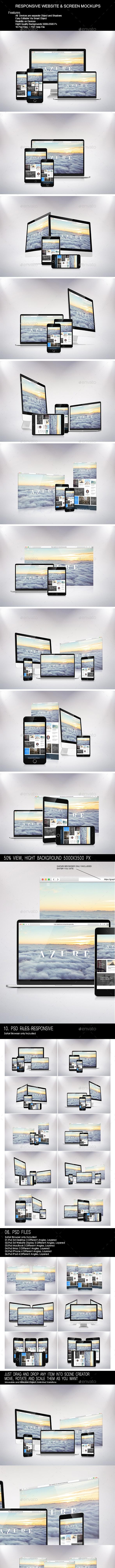 Responsive Website & Screen Mock-Up - Website Displays