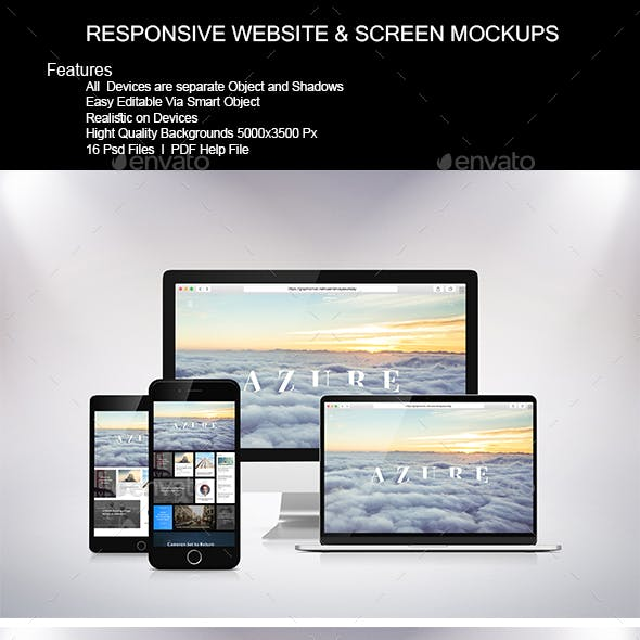 Responsive Website & Screen Mock-Up