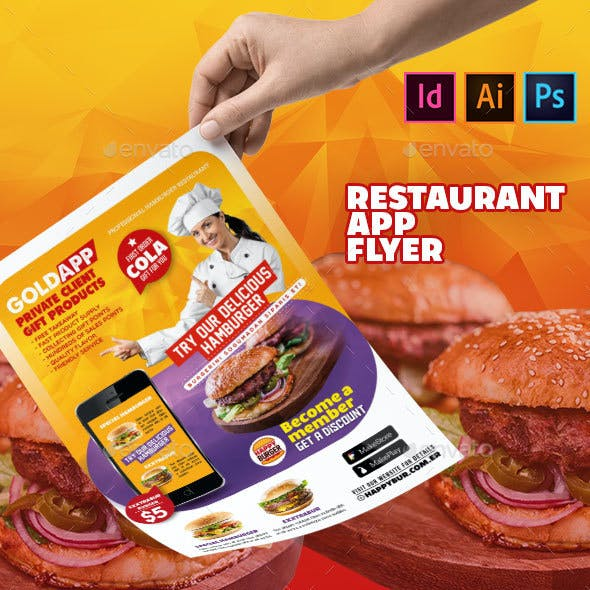 Restaurant App Flyer