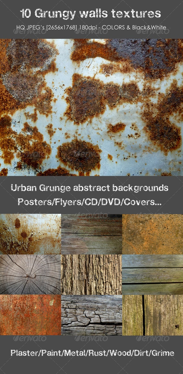 10 Grungy Backgrounds - Urban Backgrounds