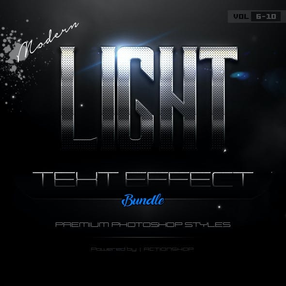 Modern Light Text Effects Bundle Two