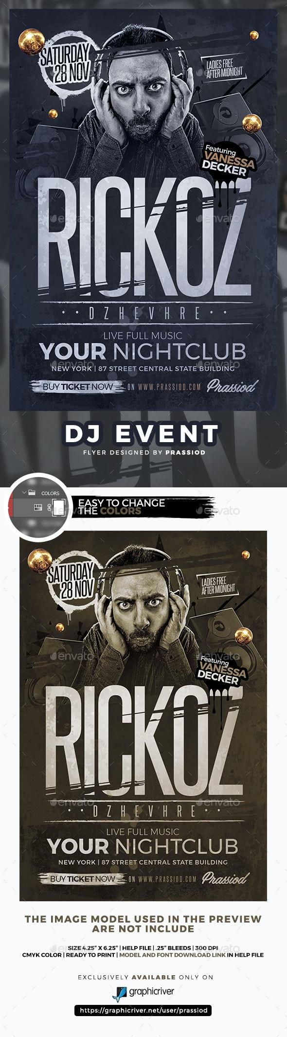 DJ Event Flyer Template - Clubs & Parties Events