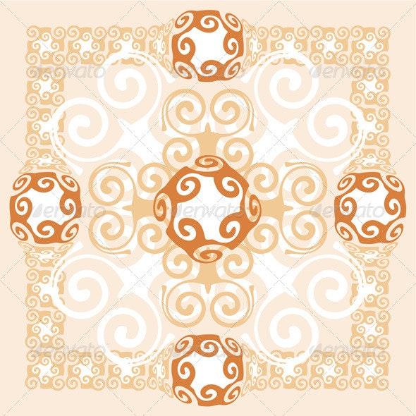 Abstract Background Ornament Design - Flourishes / Swirls Decorative