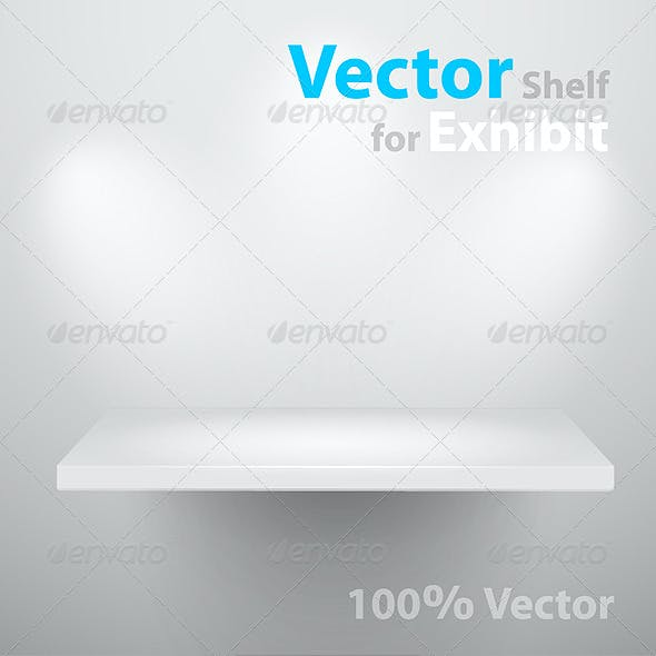 Vector shelf for exhibition