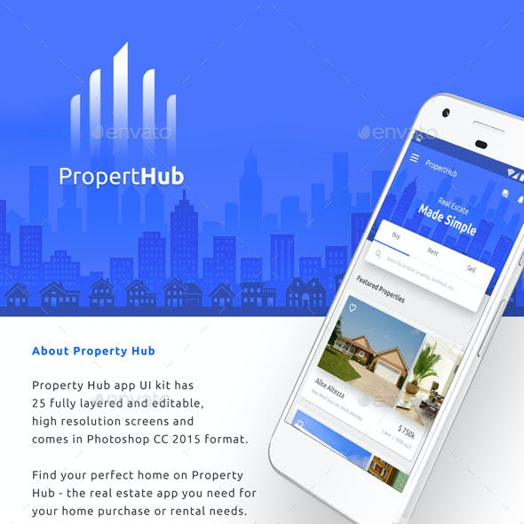 Real Estate App UI for Android & iOS  |  Property Hub