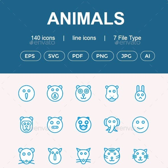 Animals Cute icons