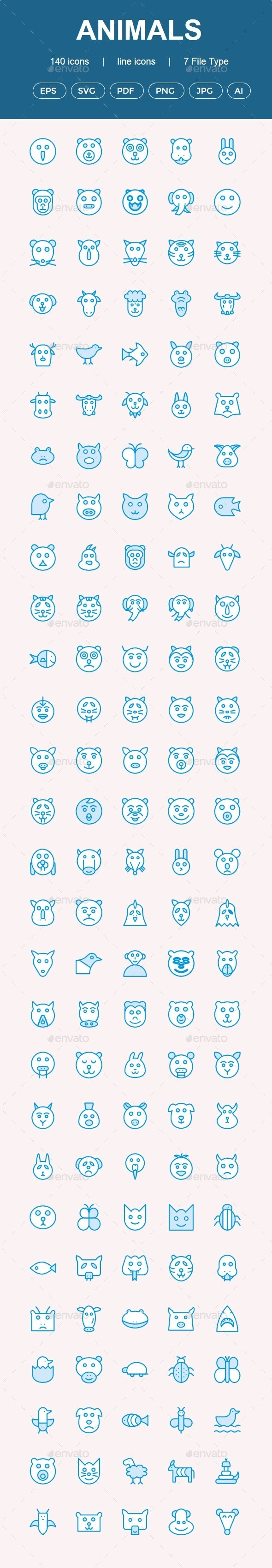 Animals Cute icons - Animals Characters