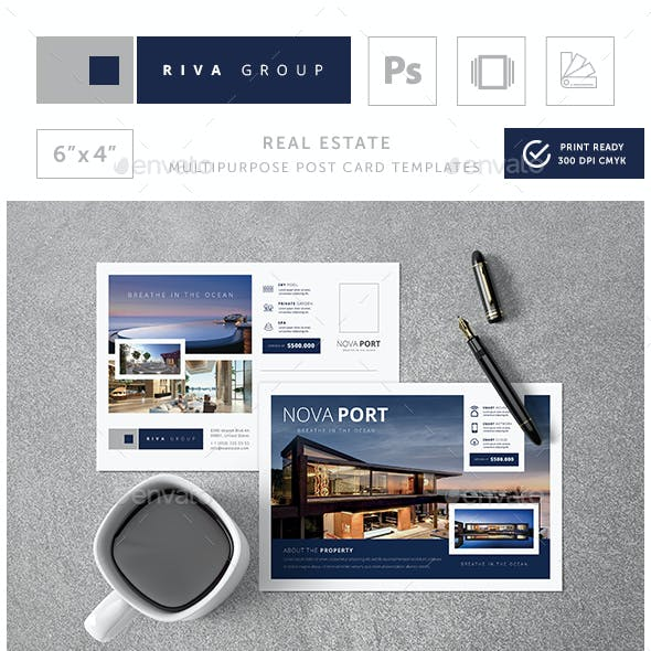 Nova - Creative Real Estate Post Card Templates