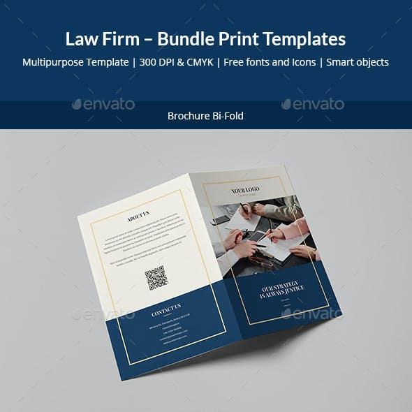 Law Firm – Bundle Print Templates