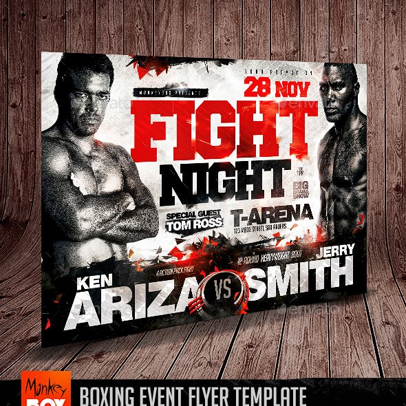 Boxing Event Flyer Template