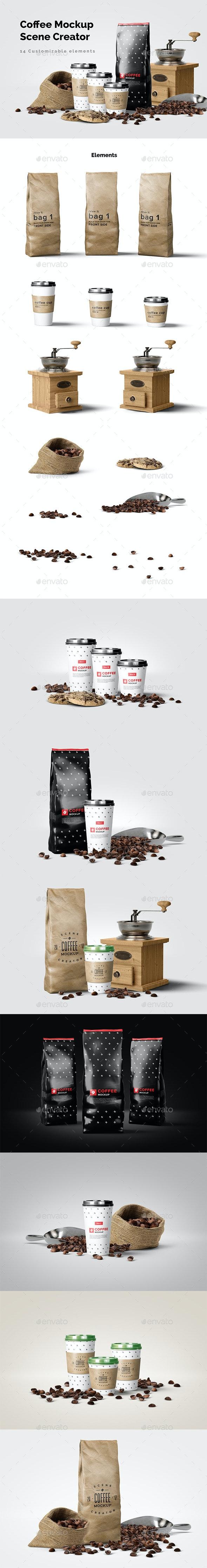Coffee Mockup Scene Creator - Food and Drink Packaging