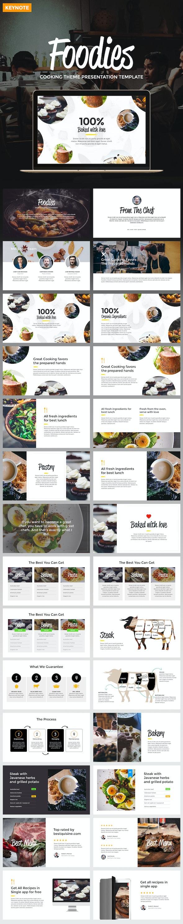 Foodies - Culinary Theme Keynote Template - Keynote Templates Presentation Templates