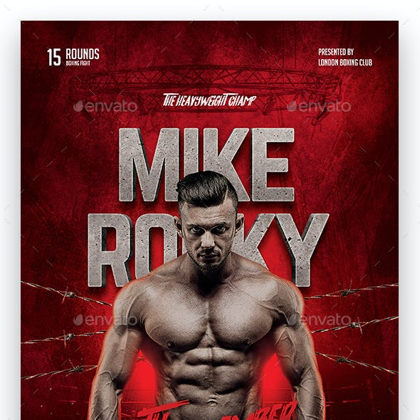 MMA Boxing Flyer Template