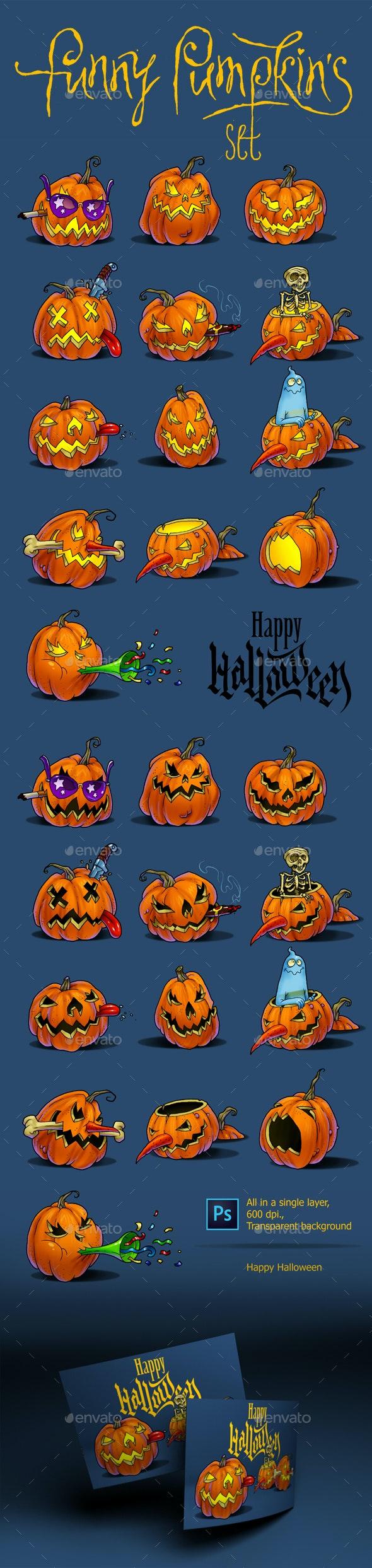 Funny Pumpkins By Serjio7777 Graphicriver