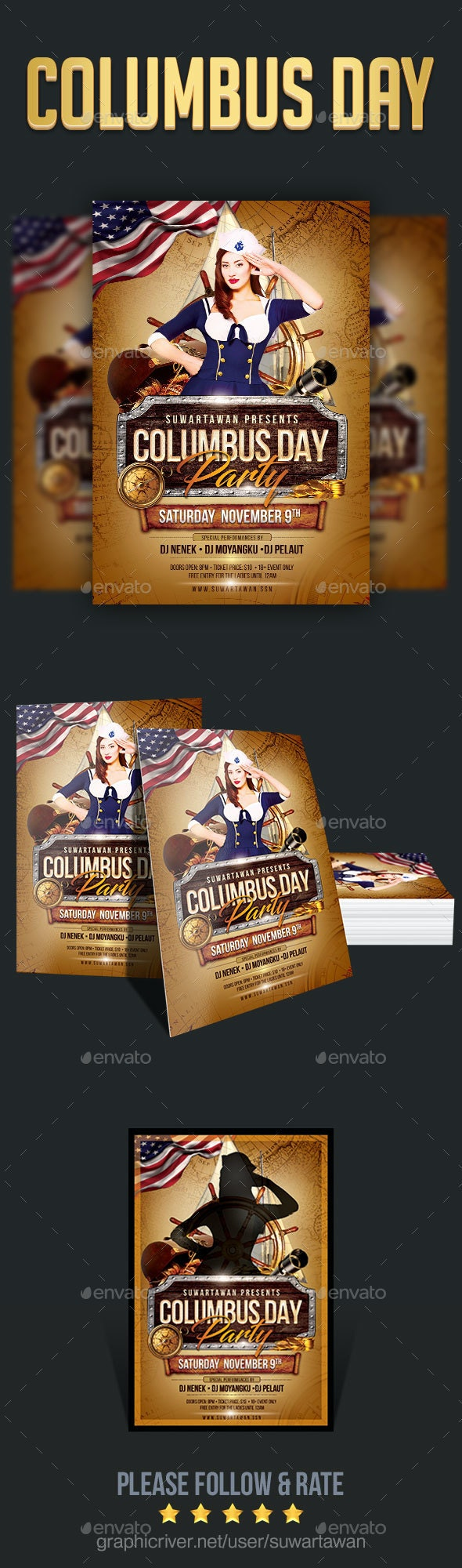 Columbus Day Party - Holidays Events