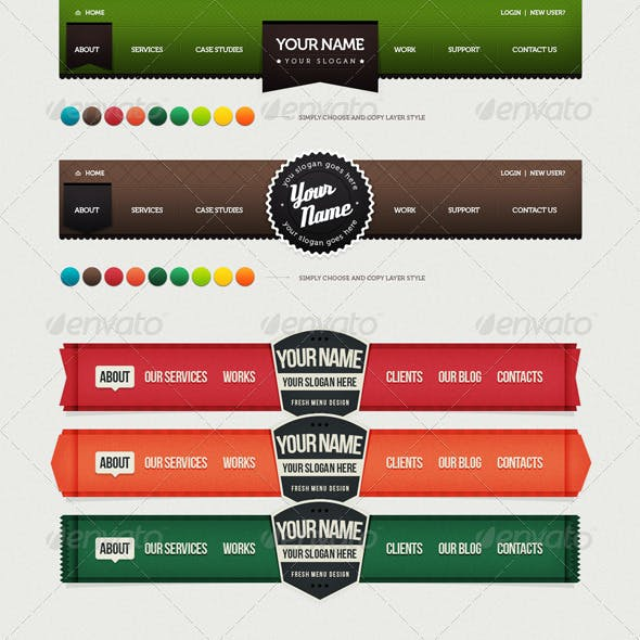 Bundle of Navigation and Logo.Vol 2