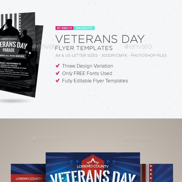 Veterans Day Flyer Templates