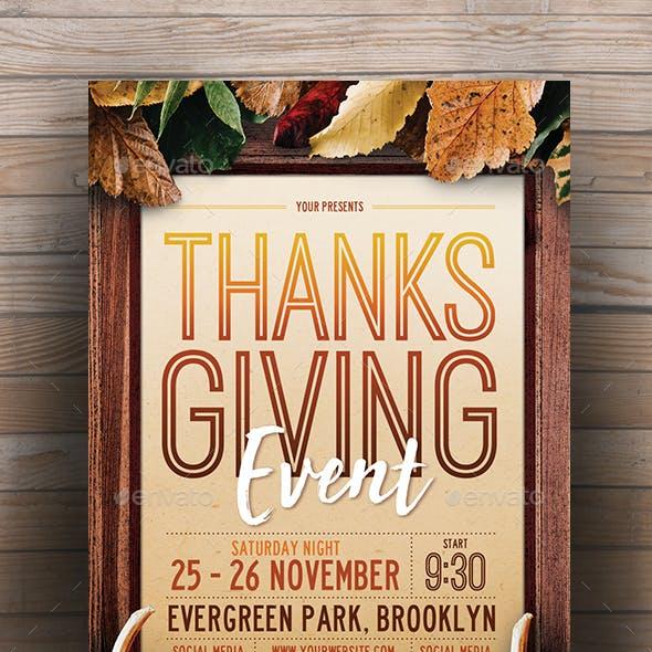 Thanksgiving Event Flyer